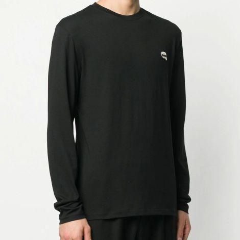 Karl Lagerfeld Sweatshirt Ikonik Siyah - Sweatshirt Erkek 21 Karl Lagerfeld Ikonik Patch T Shirt Siyah