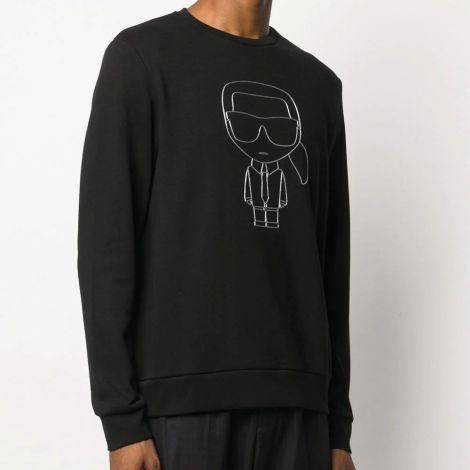 Karl Lagerfeld Sweatshirt Motif Siyah - Sweatshirt Erkek 21 Karl Lagerfeld Karl Motif Stripe Siyah