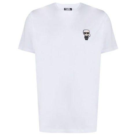 Karl Lagerfeld Tişört Ikonik Beyaz - Tisort Erkek 21 Karl Lagerfeld Ikonik Logo Cotton T Shirt Beyaz