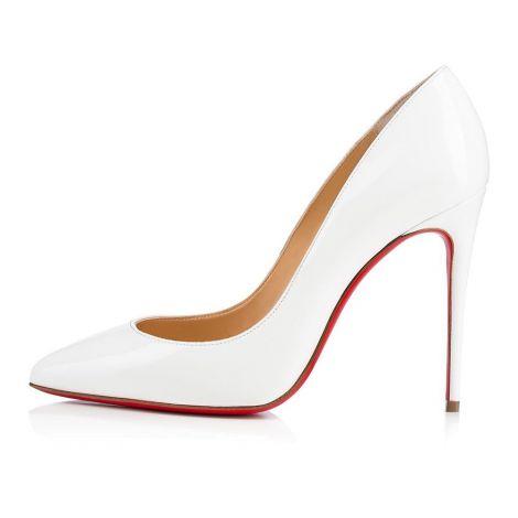 Christian Louboutin Ayakkabı Pigalle Beyaz - Christian Louboutin Klasik Pigalle Follies 100 Mm Beyaz