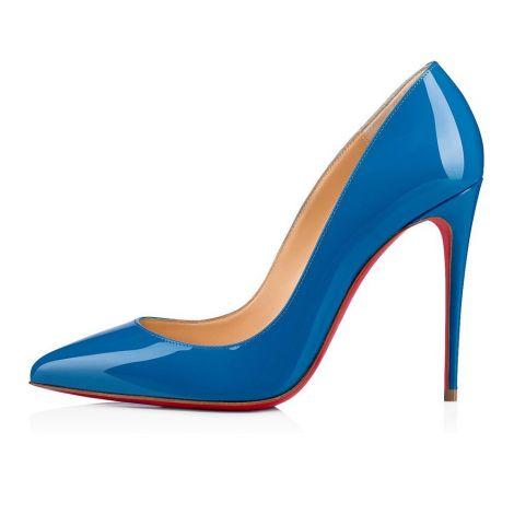Christian Louboutin Ayakkabı Pigalle Mavi - Christian Louboutin Klasik Pigalle Follies Topuklu Mavi