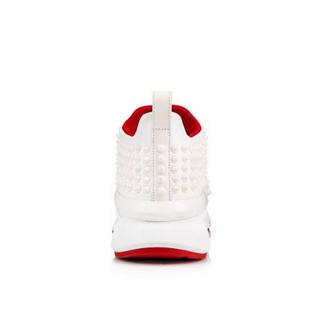 Christian Louboutin Ayakkabı Sock Beyaz - Christian Louboutin Spor Spike Sock Donna Flat 2 Beyaz