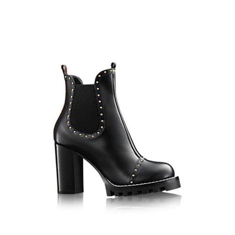Louis Vuitton Ayakkabı Rockabily Siyah - Louis Vuitton Rockabily Ankle Boot Shoes Kadin Ayakkabi Siyah