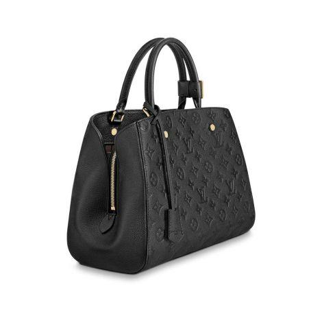 Louis Vuitton Çanta Montaigne Siyah - Louis Vuitton Canta 19 Montaigne Mm Monogram Noir Siyah