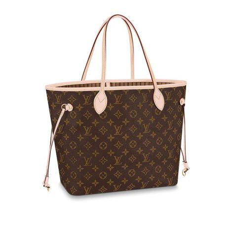 Louis Vuitton Çanta Neverfull Bej - Louis Vuitton Canta 19 Neverfull Mm Monogram Beige Bej