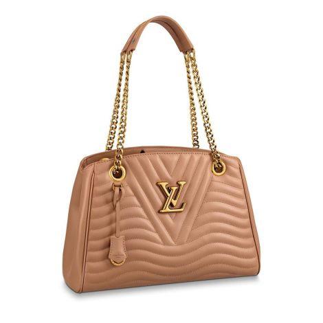 Louis Vuitton Çanta New Wave Krem - Louis Vuitton Canta 19 New Wave Chain Tote Noisette Krem