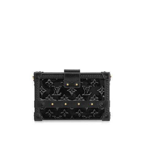 Louis Vuitton Çanta Petite Siyah - Louis Vuitton Canta 19 Petite Malle Monogram Vernis Noir Siyah