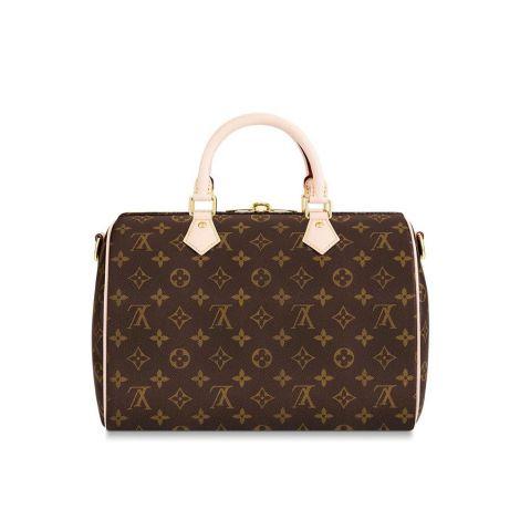Louis Vuitton Çanta Speedy Kahverengi - Louis Vuitton Canta 19 Speedy Bandouliere 30 Monogram Kahverengi