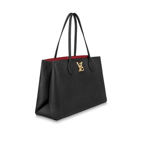 Louis Vuitton Çanta Lockme Siyah - Louis Vuitton Canta Lockme Shopper Bag Siyah