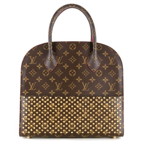 Louis Vuitton Çanta Christian Kahverengi - Louis Vuitton Canta Louis Vuitton X Christian Louboutin Tote Kahverengi