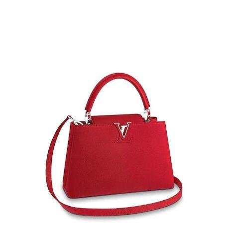 Louis Vuitton Çanta Capucines Kırmızı - Louis Vuitton Canta Lvc Capucines Pm Taurillon Kirmizi