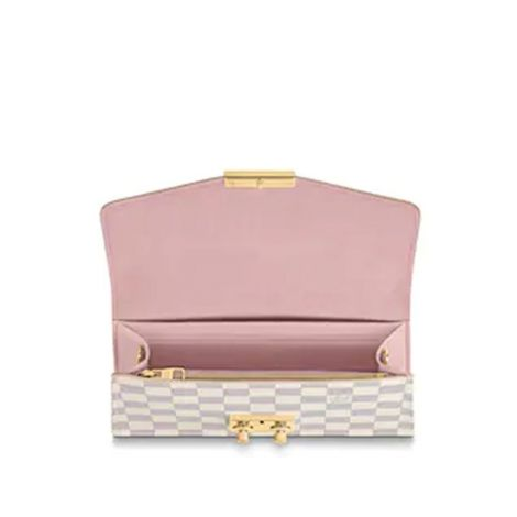Louis Vuitton Çanta Croisette Beyaz - Louis Vuitton Canta Lvc Croisette Chain Wallet Damier Azur Beyaz