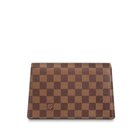 Louis Vuitton Çanta Croisette Magnolia - Louis Vuitton Canta Lvc Croisette Chain Wallet Damier Ebene Magnolia