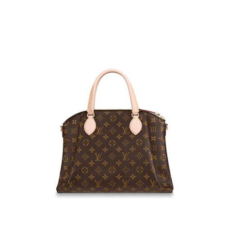 Louis Vuitton Çanta Rivoli Kahverengi - Louis Vuitton Canta Lvc Rivoli Mm Monogram Kahverengi