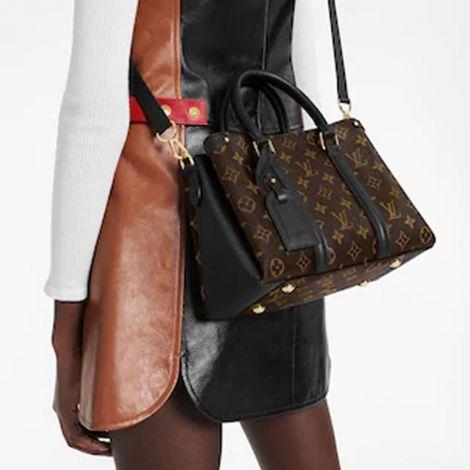 Louis Vuitton Çanta Lockme Kahverengi - Louis Vuitton Canta Lvc Soufflot Bb Monogram Canvas Siyah Kahverengi