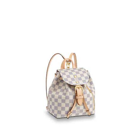 Louis Vuitton Çanta Sperone Beyaz - Louis Vuitton Canta Lvc Sperone Bb Damier Azur Beyaz