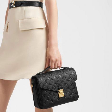 Louis Vuitton Çanta Metis Siyah - Louis Vuitton Canta Pochette Metis Monogram Empreinte Siyah