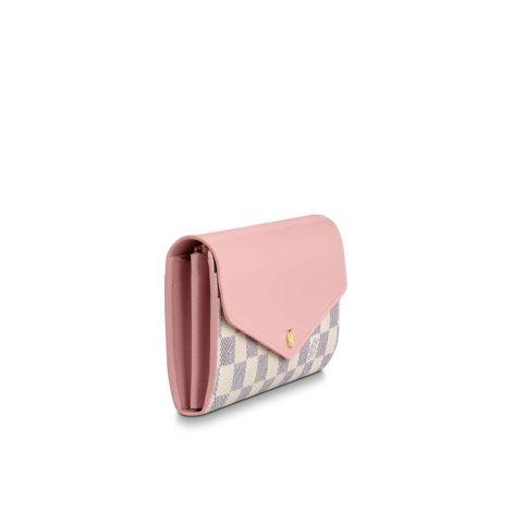 Louis Vuitton Cüzdan Sarah Pembe - Louis Vuitton Cuzdan 19 Sarah Wallet Damier Azur Pink Pembe