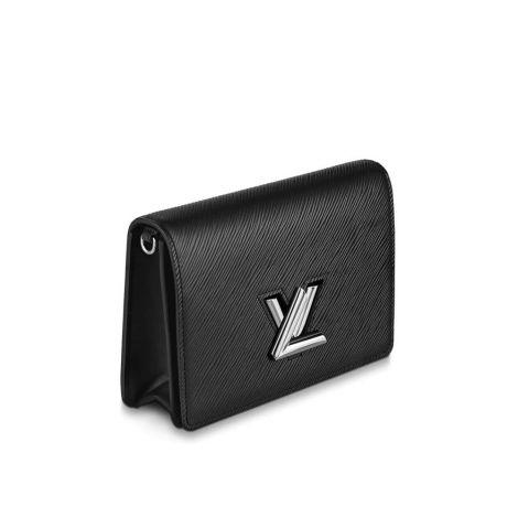 Louis Vuitton Cüzdan Twist Siyah - Louis Vuitton Cuzdan 19 Twist Belt Chain Wallet Epi Siyah