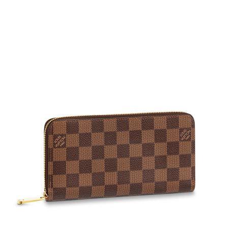 Louis Vuitton Cüzdan Zippy Kahverengi - Louis Vuitton Cuzdan 19 Zippy Wallet Damier Ebene Kahverengi