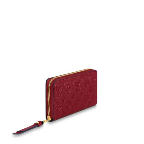 Louis Vuitton Cüzdan Zippy Kırmızı - Louis Vuitton Cuzdan 19 Zippy Wallet Monogram Empreinte Kirmizi