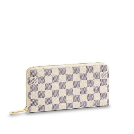 Louis Vuitton Cüzdan Zippy Beyaz - Louis Vuitton Cuzdan Zippy Wallet Damier Azur Canvas Beyaz