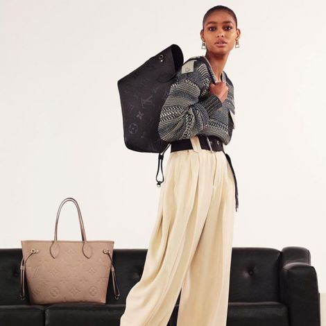 Louis Vuitton Çanta Neverfull Siyah - Lv Canta 2021 Kadin Neverfull Mm Tote Bag Black Siyah