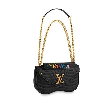 Louis Vuitton Çanta New Wave Siyah - Lv Canta 2021 Kadin New Wave Chain Bag Mm New Wave Leather Siyah