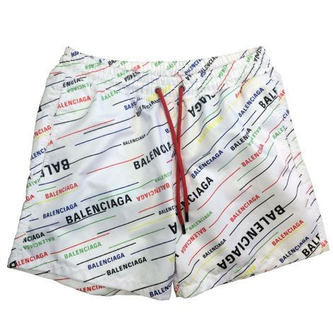 Balenciaga Mayo Şort Logo Beyaz #Outlet #Mayo Şort #OutletMayo Şort #Erkek #OutletLogo #Logo