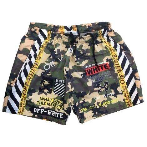 OFF-White Mayo Şort Camouflage Yeşil #Outlet #Mayo Şort #OutletMayo Şort #Erkek #OutletCamouflage #Camouflage