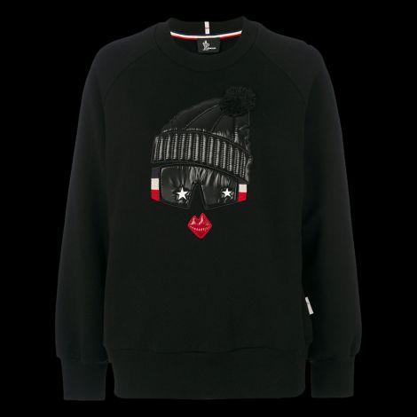 Moncler Sweatshirt Grenoble Siyah #Moncler #Sweatshirt #MonclerSweatshirt #Kadın #MonclerGrenoble #Grenoble