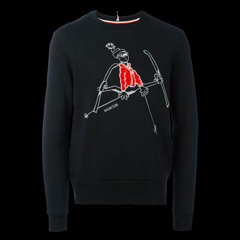 Moncler Sweatshirt Mascot Siyah #Moncler #Sweatshirt #MonclerSweatshirt #Erkek #MonclerMascot #Mascot