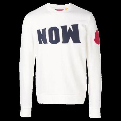 Moncler Sweatshirt Now Beyaz #Moncler #Sweatshirt #MonclerSweatshirt #Erkek #MonclerNow #Now