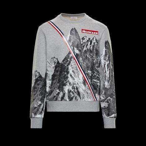Moncler Sweatshirt Mounth Gri #Moncler #Sweatshirt #MonclerSweatshirt #Erkek #MonclerMounth #Mounth