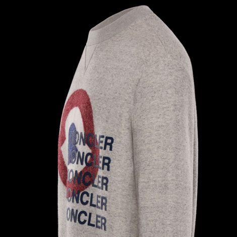 Moncler Sweatshirt Logo Gri #Moncler #Sweatshirt #MonclerSweatshirt #Erkek #MonclerLogo #Logo