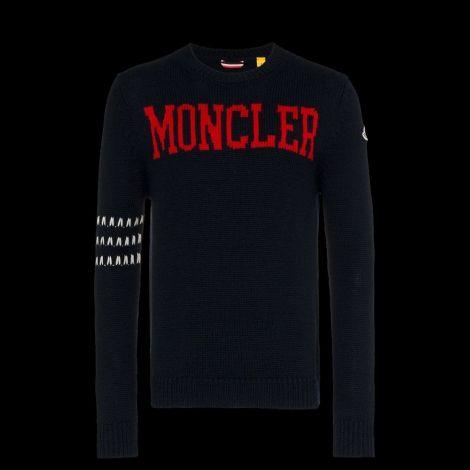 Moncler Sweatshirt Logo Mavi #Moncler #Sweatshirt #MonclerSweatshirt #Erkek #MonclerLogo #Logo