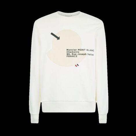 Moncler Sweatshirt Logo Beyaz #Moncler #Sweatshirt #MonclerSweatshirt #Erkek #MonclerLogo #Logo