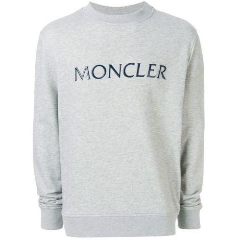 Moncler Sweatshirt Plaque Gri #Moncler #Sweatshirt #MonclerSweatshirt #Erkek #MonclerPlaque #Plaque