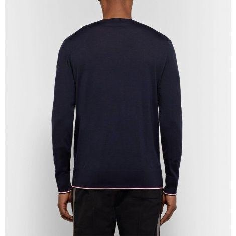 Moncler Sweatshirt Stripe Lacivert #Moncler #Sweatshirt #MonclerSweatshirt #Erkek #MonclerStripe #Stripe