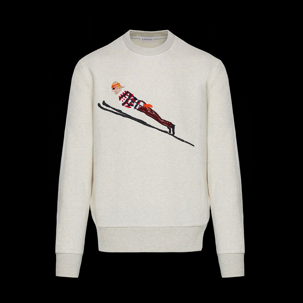 Moncler Fabric Sweatshirt Beyaz - 26 #Moncler #MonclerFabric #Sweatshirt