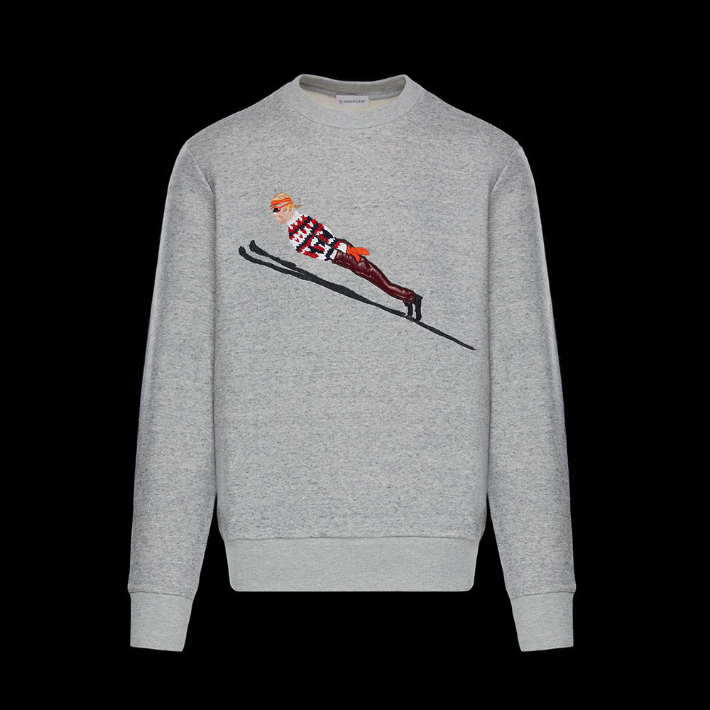 Moncler Fabric Sweatshirt Gri - 27 #Moncler #MonclerFabric #Sweatshirt