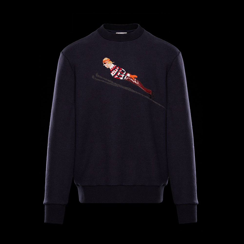 Moncler Fabric Sweatshirt Lacivert - 25 #Moncler #MonclerFabric #Sweatshirt