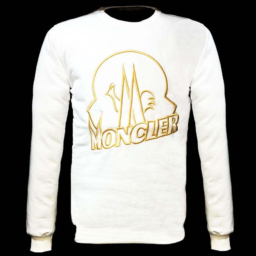 Moncler Logo Sweatshirt Beyaz - 17 #Moncler #MonclerLogo #Sweatshirt