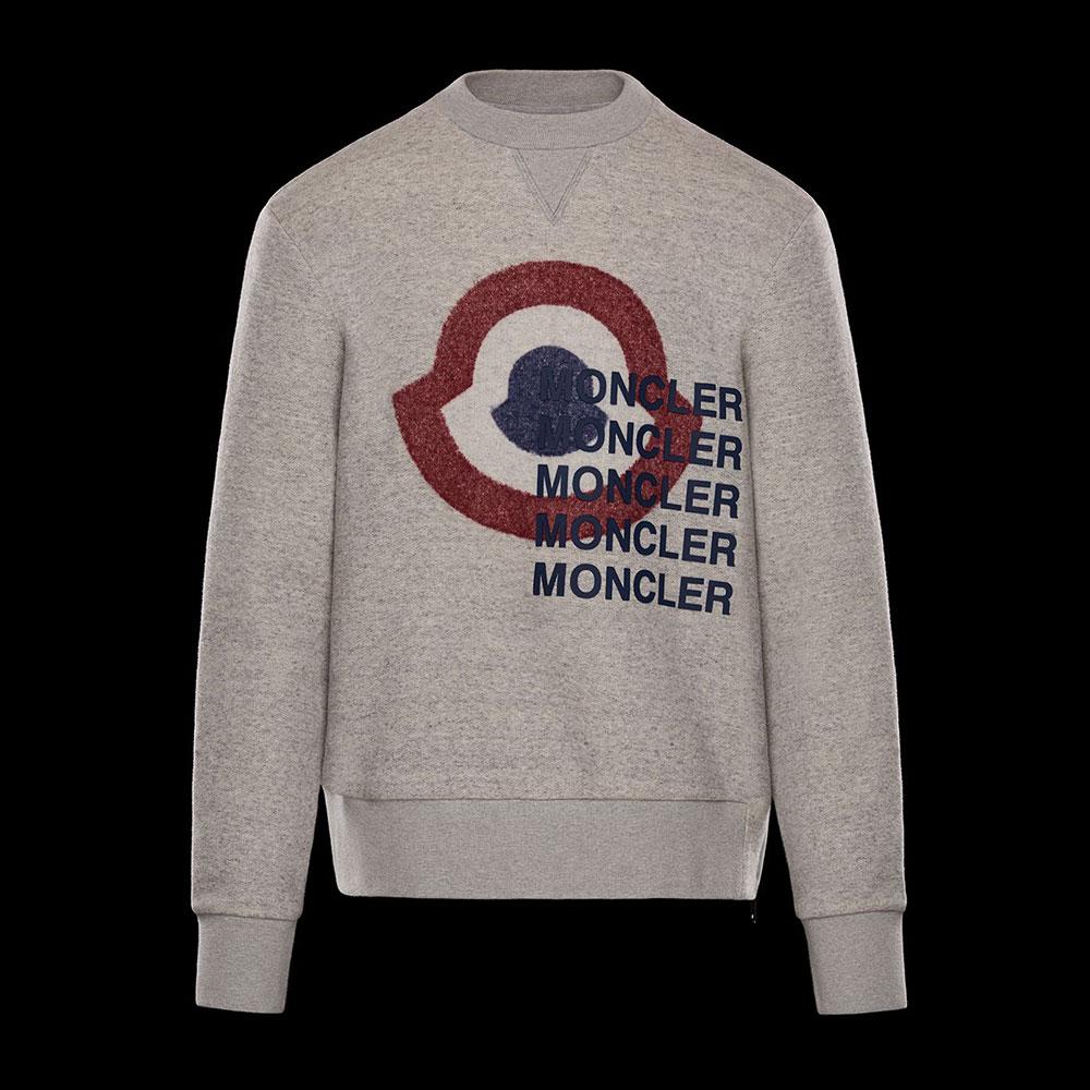 Moncler Logo Sweatshirt Gri - 22 #Moncler #MonclerLogo #Sweatshirt