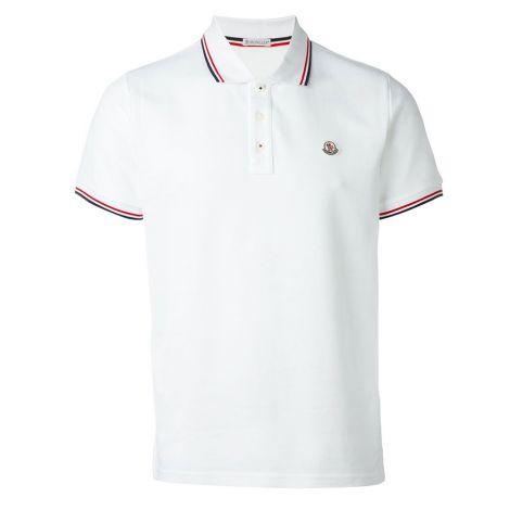 Moncler Tişört Polo White #Moncler #Tişört #MonclerTişört #Erkek #MonclerPolo #Polo