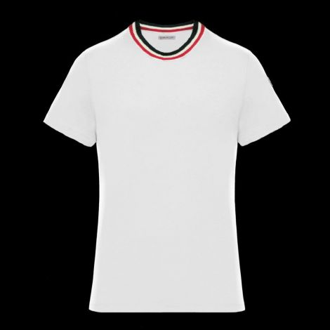 Moncler Tişört Stripe Beyaz #Moncler #Tişört #MonclerTişört #Erkek #MonclerStripe #Stripe