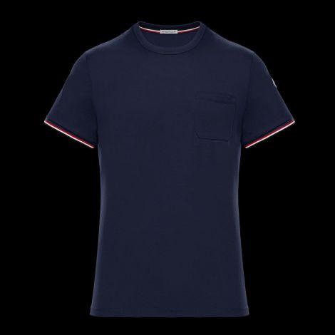 Moncler Tişört Stripe Lacivert #Moncler #Tişört #MonclerTişört #Erkek #MonclerStripe #Stripe