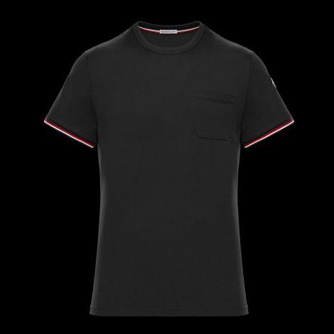 Moncler Tişört Stripe Siyah #Moncler #Tişört #MonclerTişört #Erkek #MonclerStripe #Stripe
