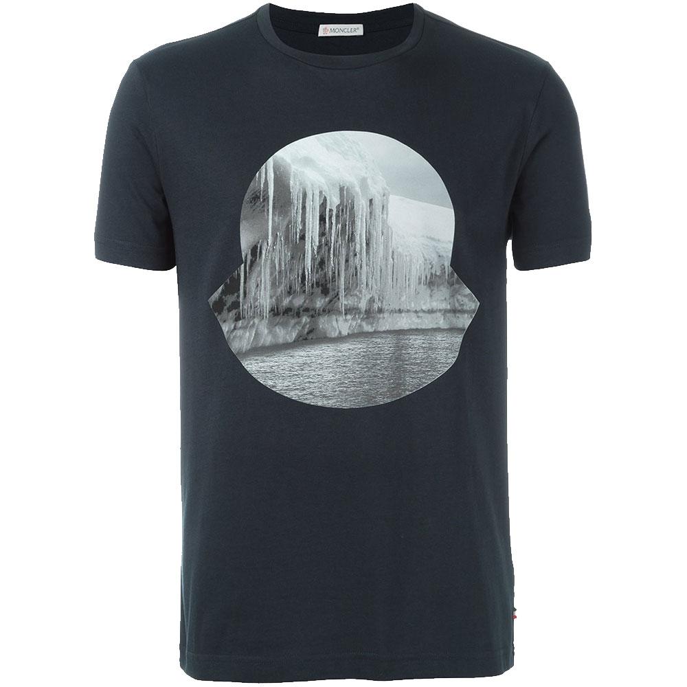 Moncler İcicle Tişört Lacivert - 23 #Moncler #Monclerİcicle #Tişört