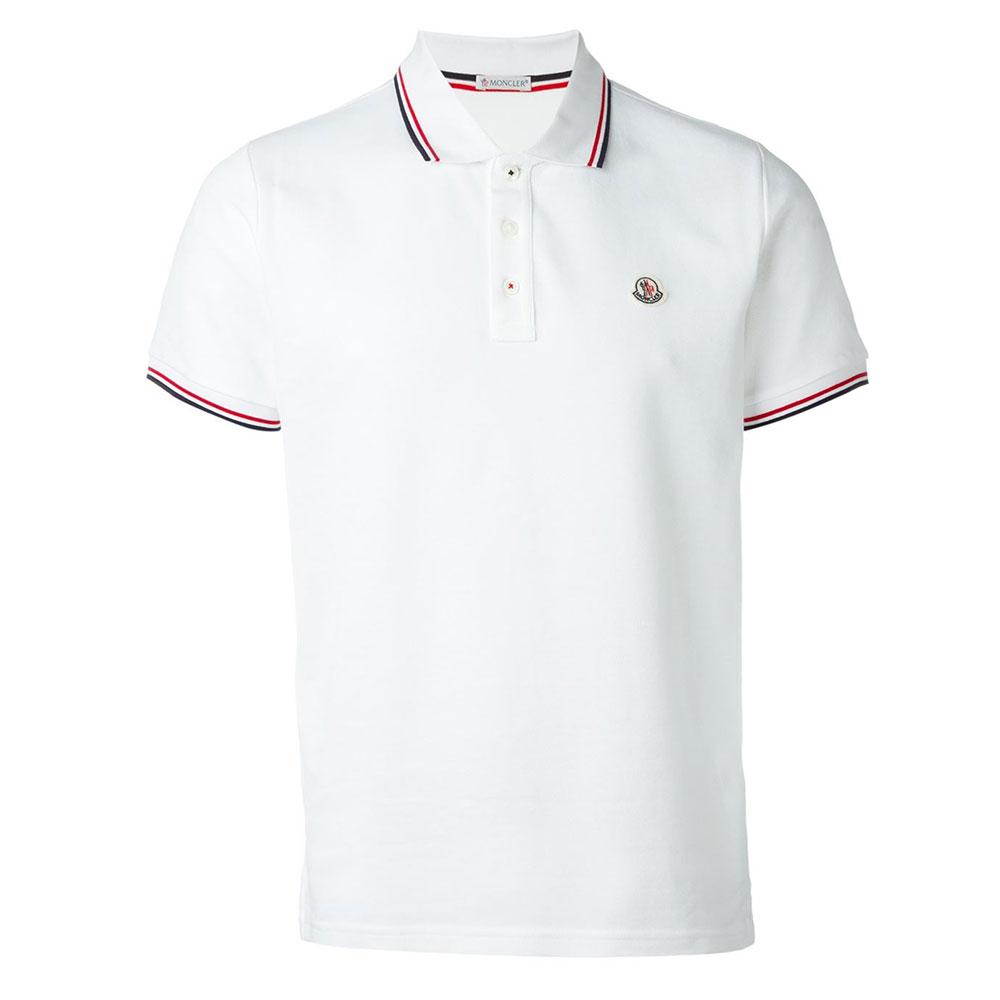 Moncler Polo Tişört White - 3 #Moncler #MonclerPolo #Tişört